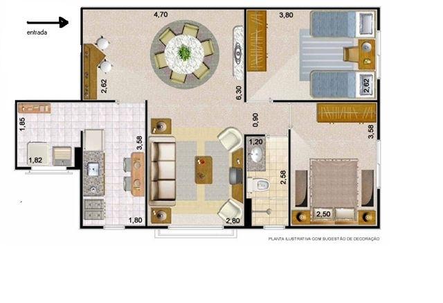 Sacomã, Apartamento Padrão-Planta padrão
