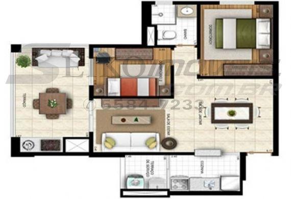 Sacomã, Apartamento Padrão-Planta 1