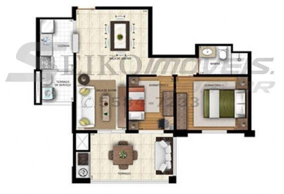 Sacomã, Apartamento Padrão-Planta 2