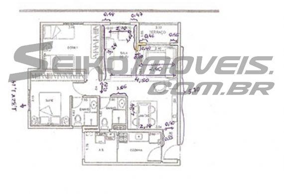 Sacomã, Apartamento Padrão-PLANTA 66m�