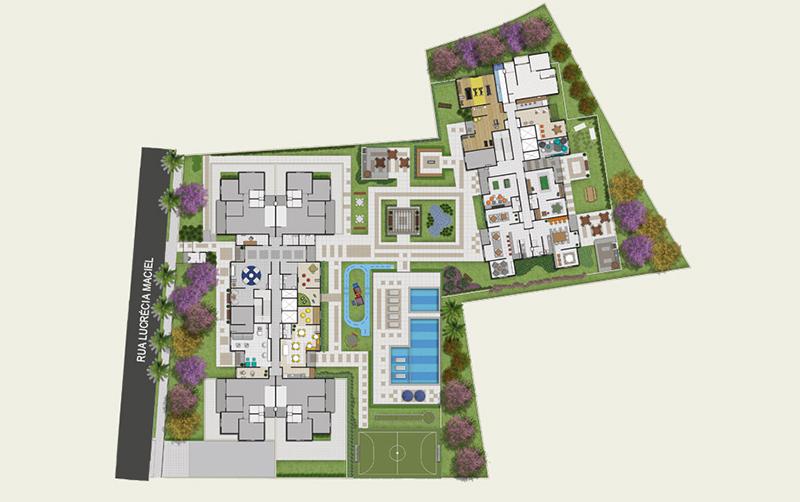 Jabaquara, Apartamento Padrão-Implantação.