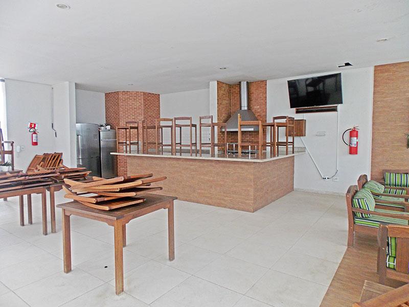 Jabaquara, Apartamento Garden-Salão de festa.