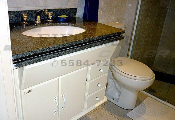 Sacomã, Apartamento Padrão-Banheiro social com gabinete e pia de granito