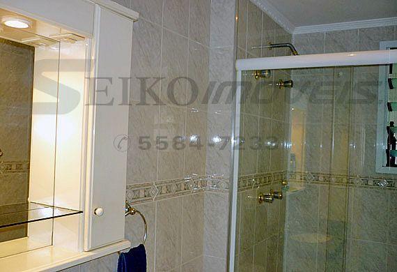 Sacomã, Apartamento Padrão-Banheiro social com box de vidro