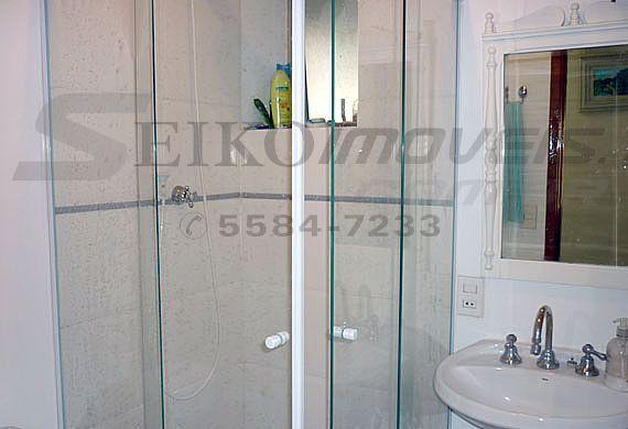 Jabaquara, Apartamento Padrão-Banheiro social reformado com box de vidro