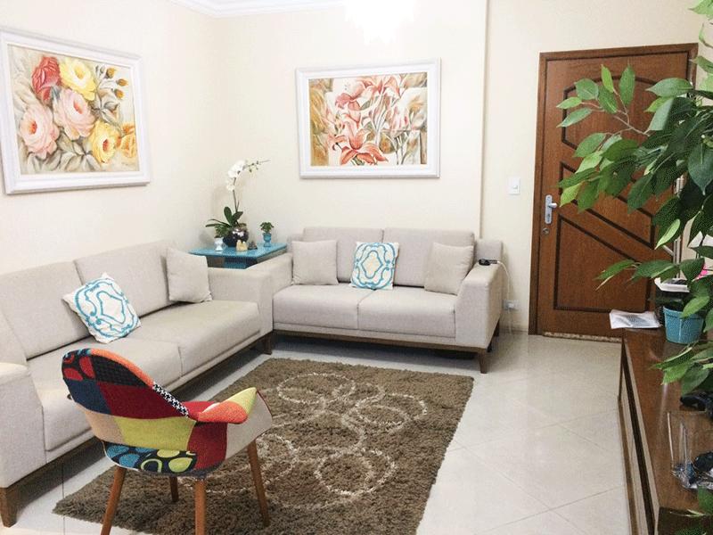 Sacomã, Apartamento Padrão - Sala com dois ambientes, piso de porcelanato, teto com moldura de gesso e acesso à com varanda.