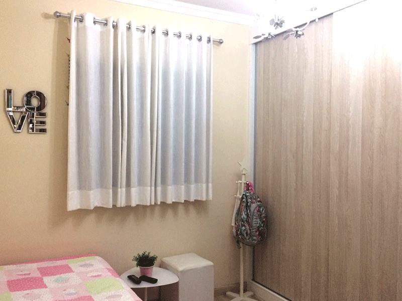 Sacomã, Apartamento Padrão-2º dormitório piso laminado, armários planejados e teto com moldura de gesso.