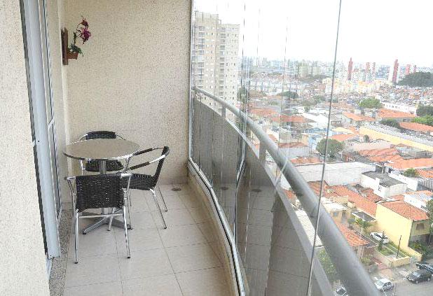 Sacomã, Apartamento Padrão-Sacada envidraçada e piso de cerâmica.