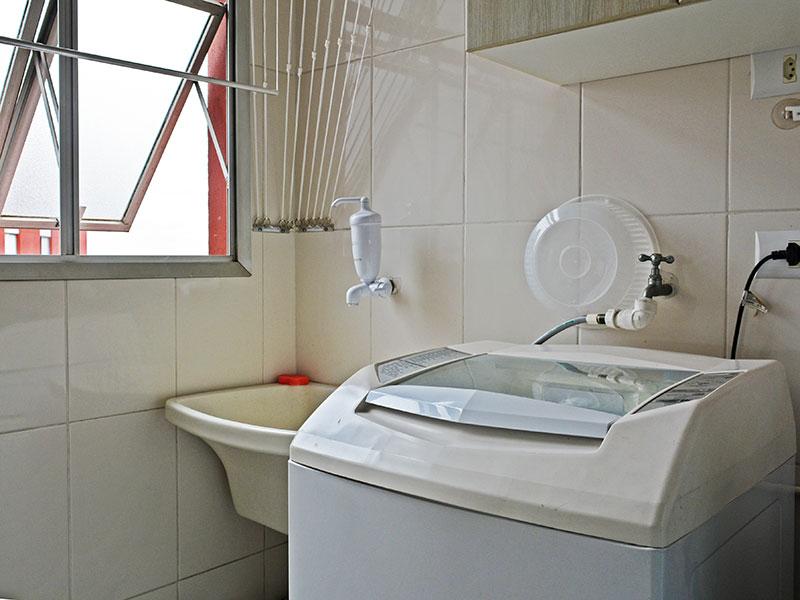 Jabaquara, Apartamento Padrão-Área de serviço com piso de cerâmica.