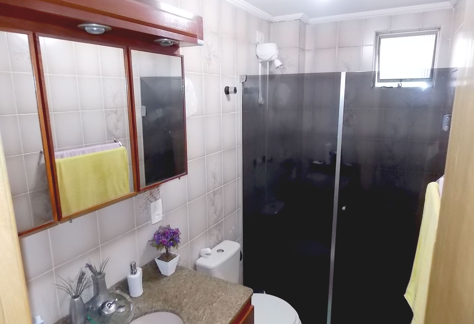 Sacomã, Apartamento Padrão-BANHEIRO SOCIAL COM BOX DE VIDRO, PIA DE GRANITO COM GABINETE E TETO COM MOLDURA DE GESSO
