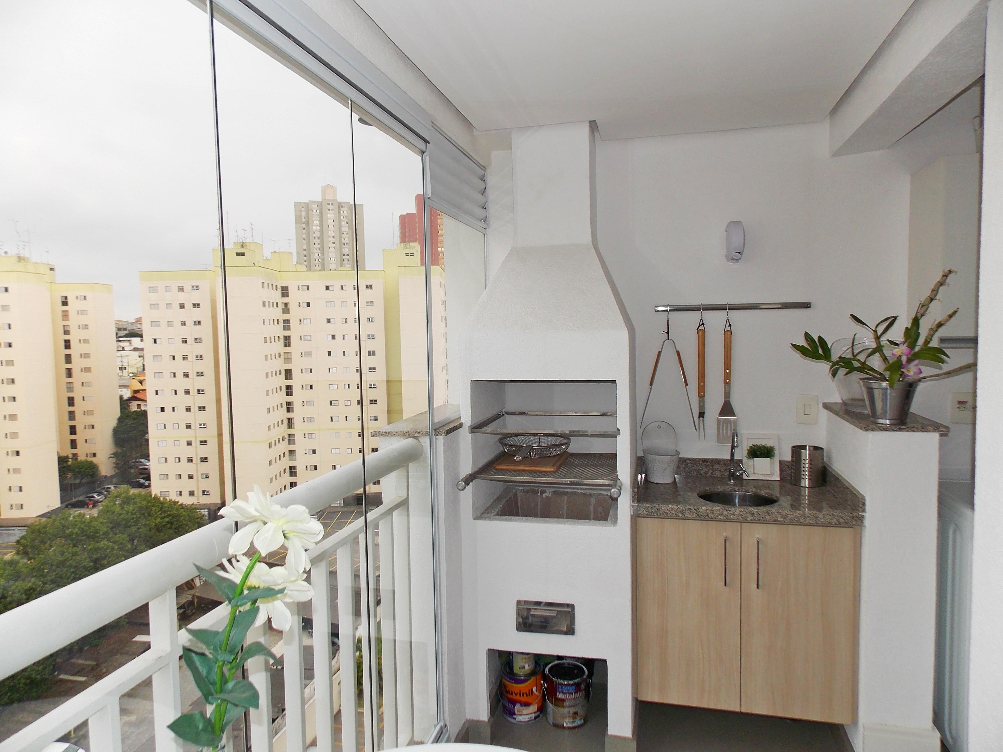 Sacomã, Apartamento Padrão-VARANDA GOURMET COM CORTINA DE VIDRO, PISO DE PORCELANATO, PIA DE GRANITO COM GABINETE E CHURRASQUEIRA