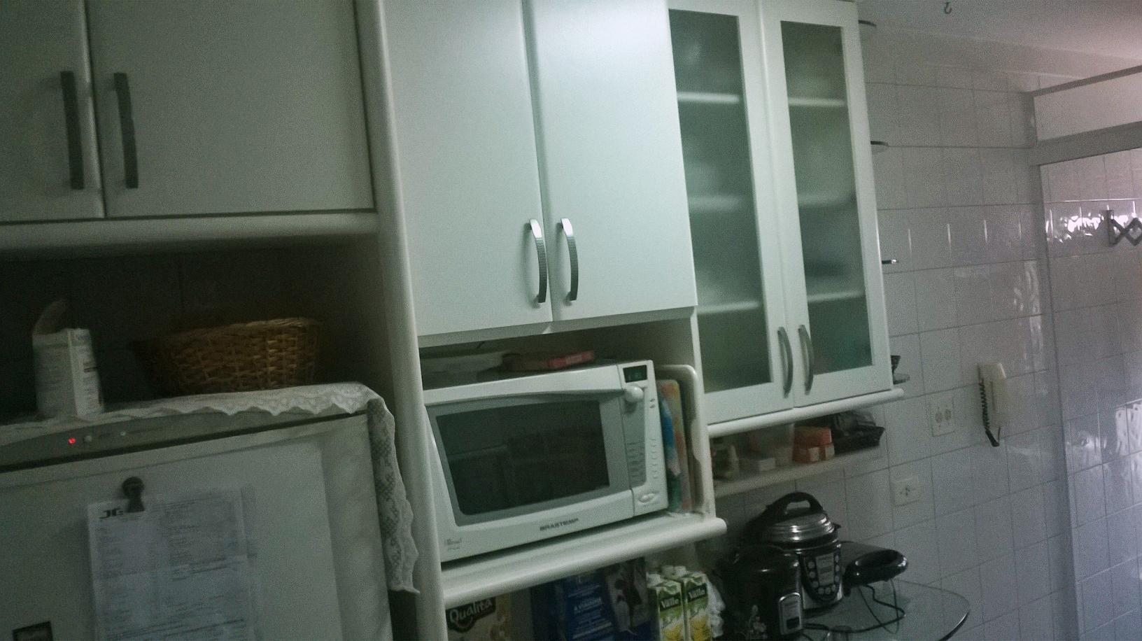Sacomã, Apartamento Padrão-COZINHA COM PISO DE CERÂMICA, PIA DE GRANITO E ARMÁRIOS PLANEJADOS