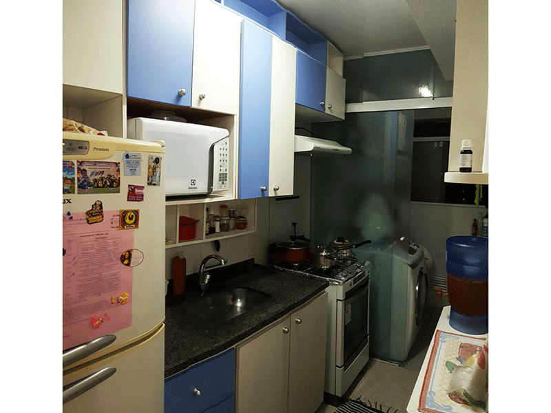 Jabaquara, Apartamento Padrão-Cozinha com piso de cerâmica, pia de granito com gabinete e armários planejados.