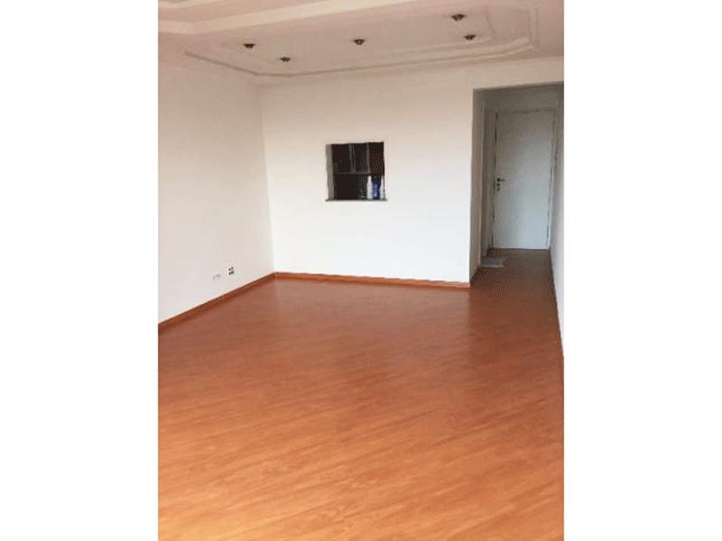 Sacomã, Apartamento Padrão-Sala retangular com piso de laminado, teto com sanca de gesso e iluminação embutida.