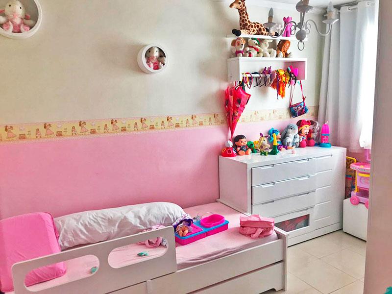 Sacomã, Apartamento Padrão-2º Quarto com piso de porcelanato e teto com moldura de gesso.