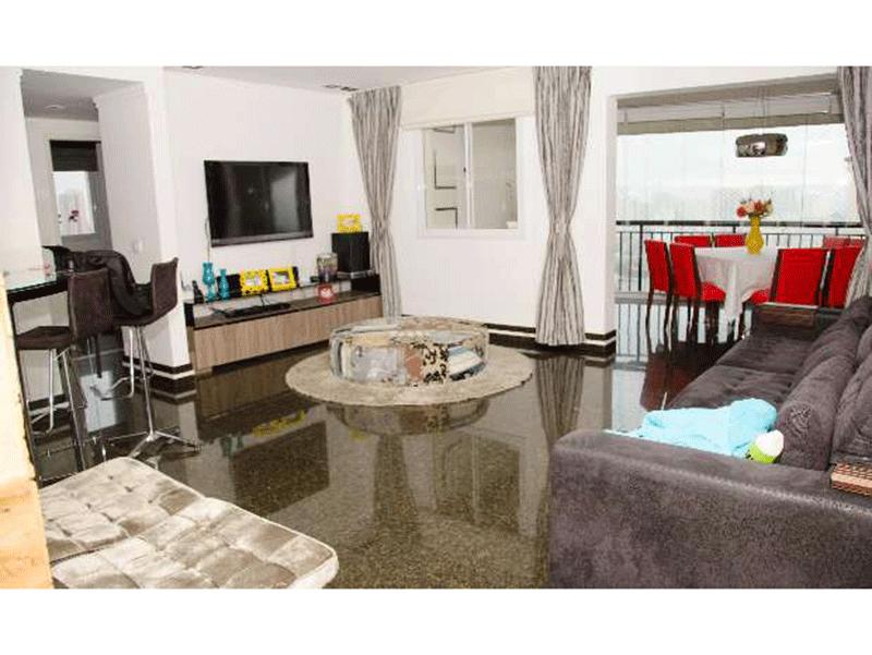 Ipiranga, Apartamento Padrão - Sala com piso de granito.