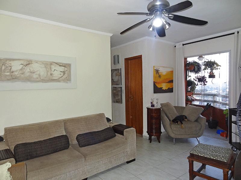 Jabaquara, Apartamento Padrão - Sala oval integrada com a sacada com piso de cerâmico e teto com moldura de gesso.