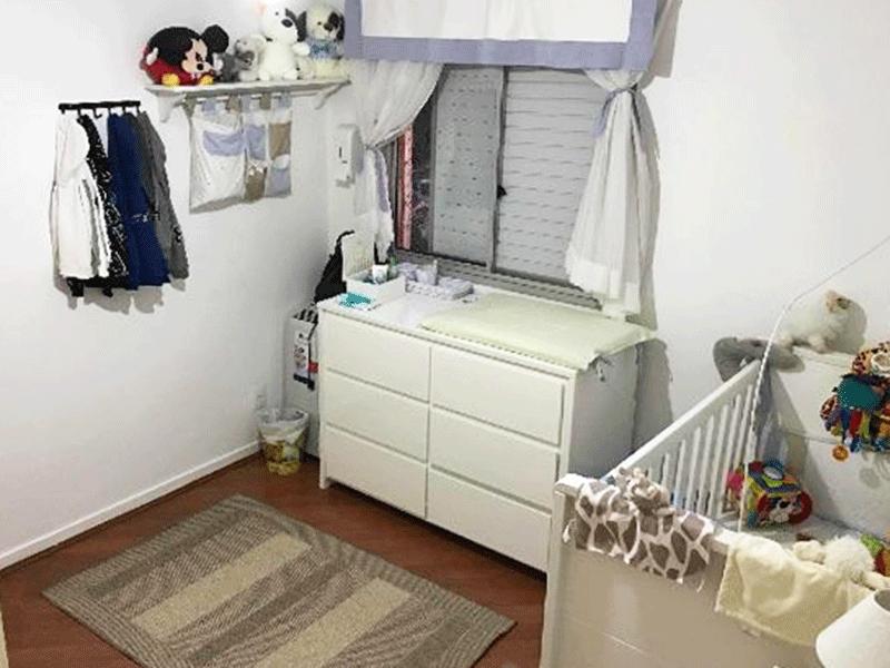 Ipiranga, Cobertura Duplex-2º dormitório com piso de madeira e armários embutidos.