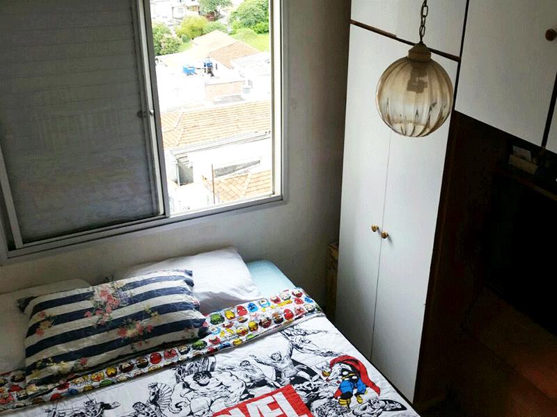 Sacomã, Apartamento Padrão-Dormitório com piso de madeira.
