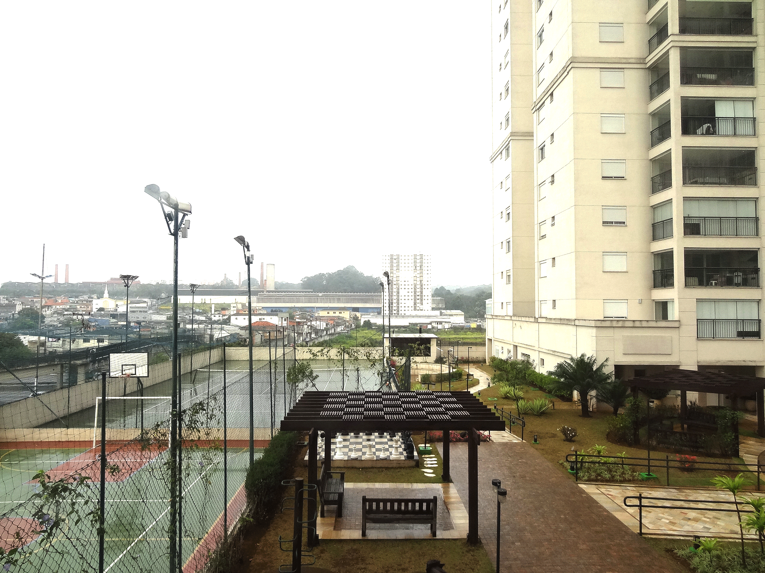 Jabaquara, Apartamento Garden-Vista da varanda.