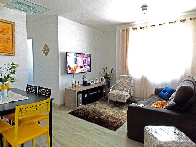 Sacomã, Apartamento Padrão - Sala em L com piso laminado.