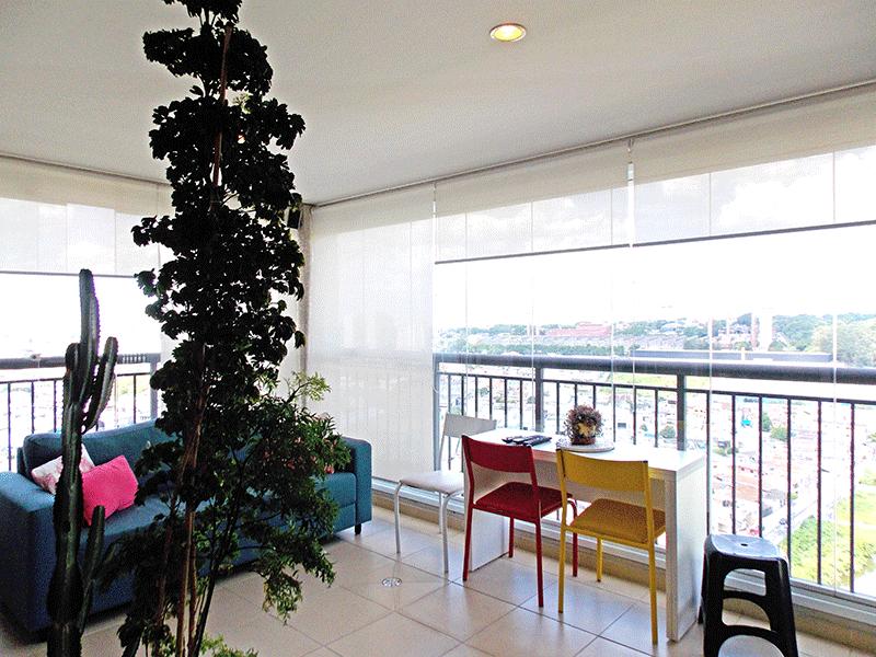 Jabaquara, Apartamento Padrão-Varanda gourmet envidraçada com piso de cerâmica, pia de granito, gabinete, churrasqueira, teto rebaixado e iluminação embutida.