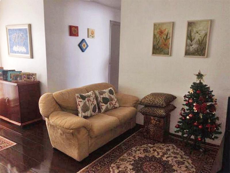 Jabaquara, Apartamento Padrão - Sala com dois ambientes e piso de tábua.