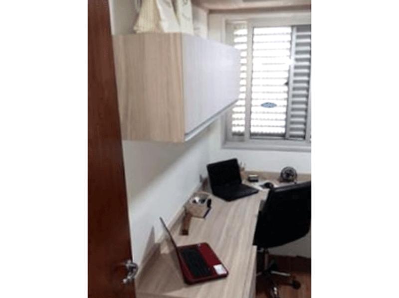 Sacomã, Apartamento Padrão-2º dormitório com laminado e armários planejados.