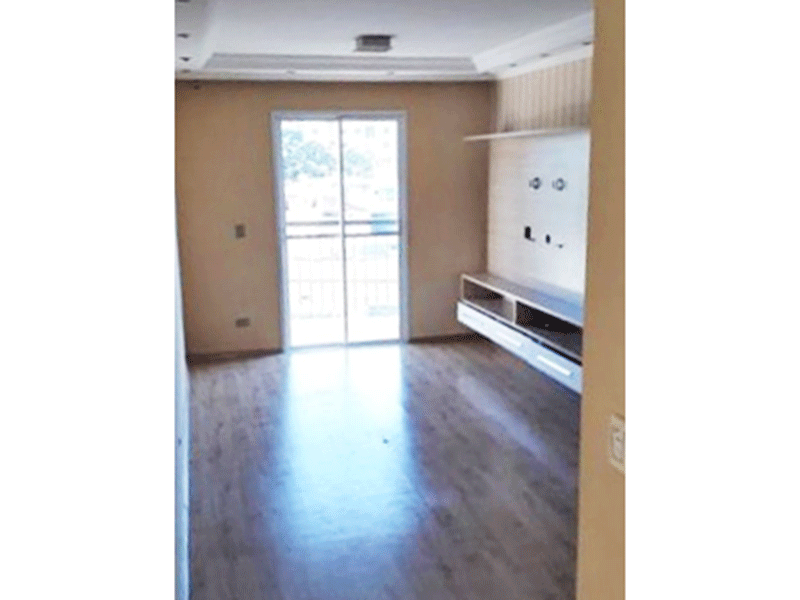 Sacomã, Apartamento Padrão - Sala com dois ambientes, piso laminado, armários planejados, teto com sanca de gesso, iluminação embutida e acesso à sacada.
