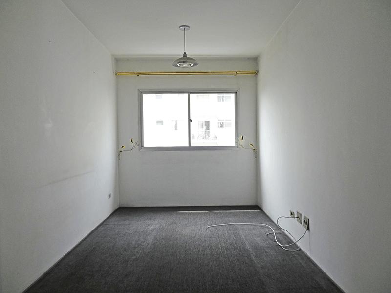 Sacomã, Apartamento Padrão - Sala com dois ambientes e piso carpete nylon.