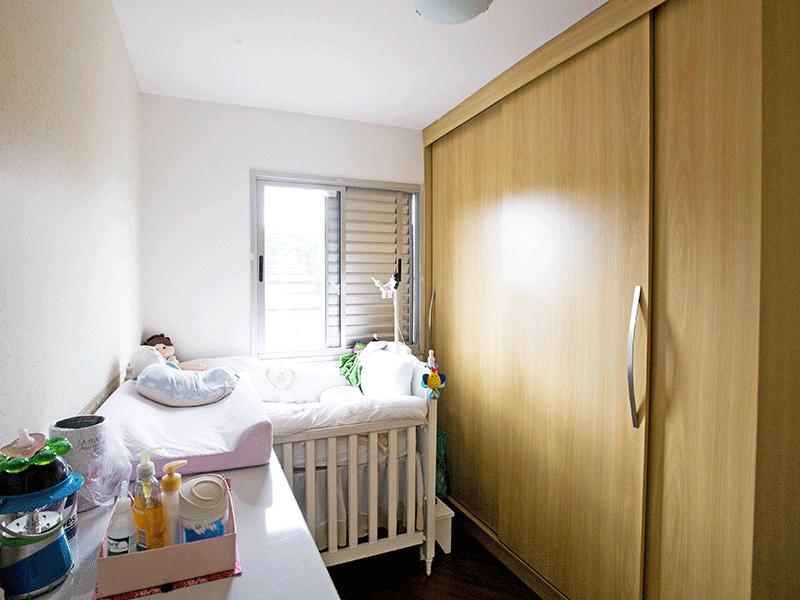 Jabaquara, Apartamento Padrão-2º dormitório com piso laminado e armários planejados.