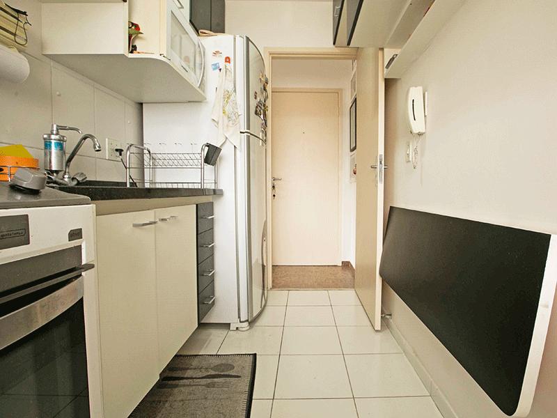 Jabaquara, Apartamento Padrão-Cozinha piso cerâmica, pia de granito e armários planejados