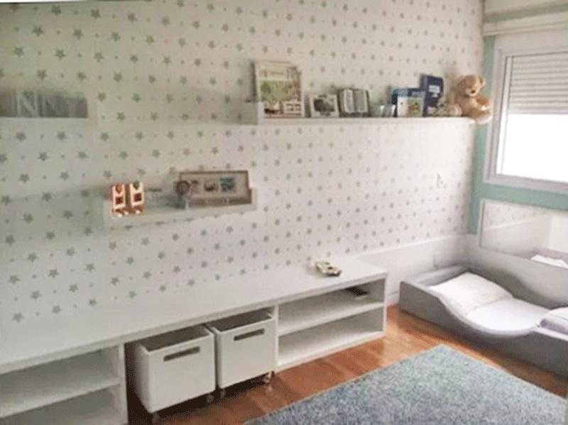 Ipiranga, Cobertura Duplex-2º suíte com piso de madeira, ar condicionado, papel de parede e armários planejados.
