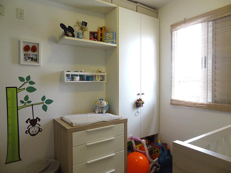 Sacomã, Apartamento Padrão-2º dormitório com piso laminado e armários planejados.