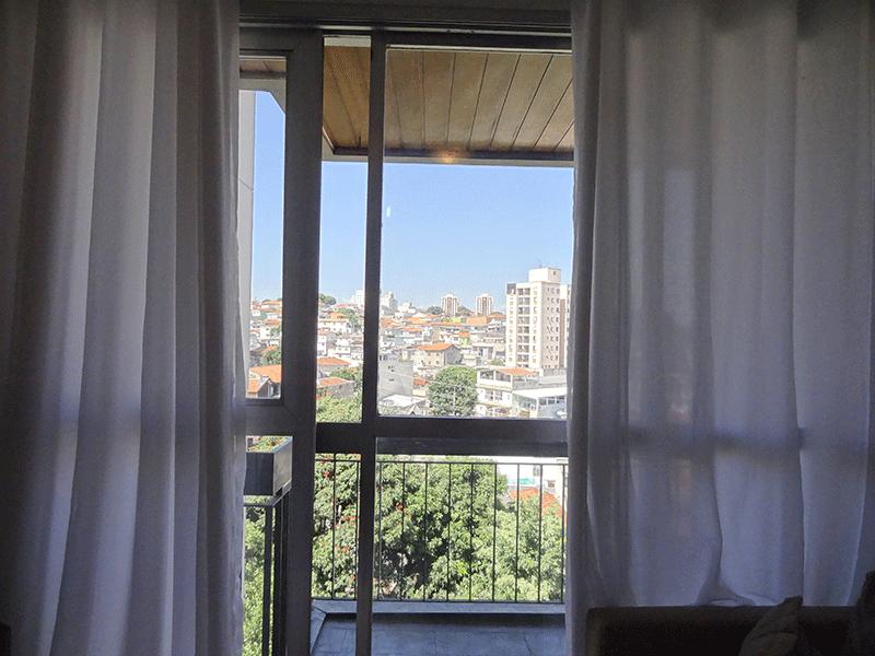 Jabaquara, Apartamento Padrão-Sacada com piso de ardósia e teto de madeira.