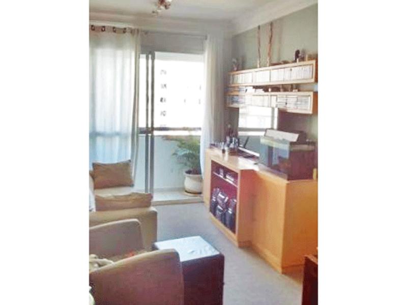 Sacomã, Apartamento Padrão - Sala com dois ambientes, piso de carpete e teto com moldura de gesso.