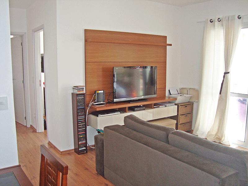 Sacomã, Apartamento Padrão - Sala ampliada com dois ambientes e piso laminado (3º dormitório transformado em sala ampliada).