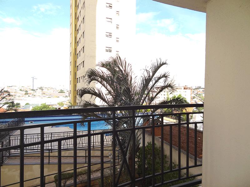 Ipiranga, Apartamento Padrão-Sacada com piso de cerâmica.