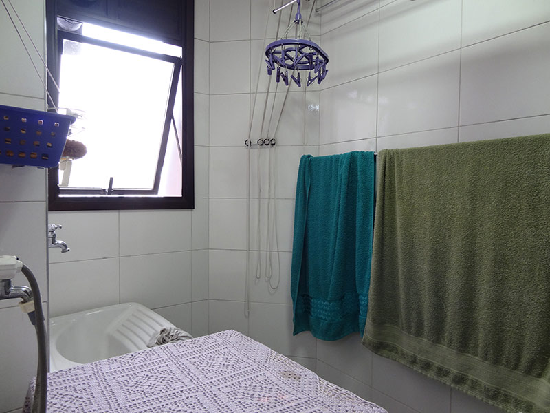 Ipiranga, Apartamento Padrão-Área de serviço com piso de porcelanato e teto com moldura de gesso (Banheiro de serviço transformado em Área de serviço).