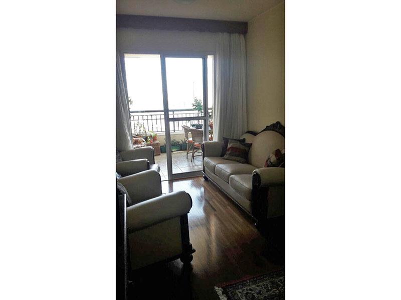Ipiranga, Apartamento Padrão - Sala retangular com piso taquinho de madeira.