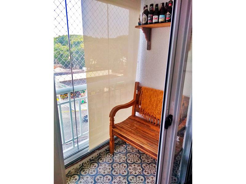 Jabaquara, Apartamento Padrão-Sacada com piso de cerâmica com fechamento em vidro.