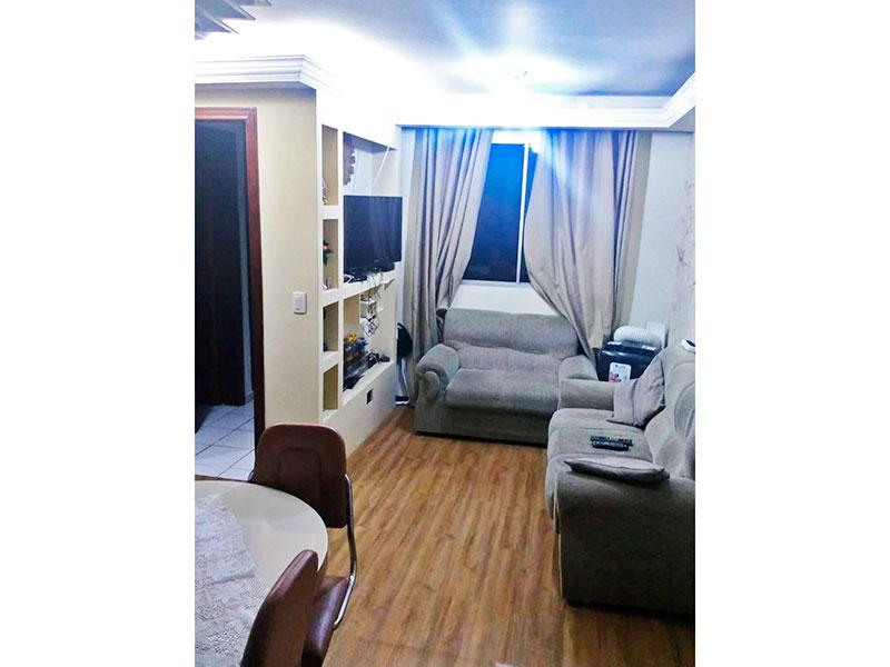 Jabaquara, Apartamento Padrão - Sala retangular com piso laminado, teto com sanca de gesso.