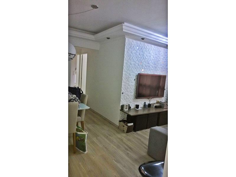 Sacomã, Apartamento Padrão-Sala em L com piso de laminado, teto com sanca de gesso e iluminaçona embutida.