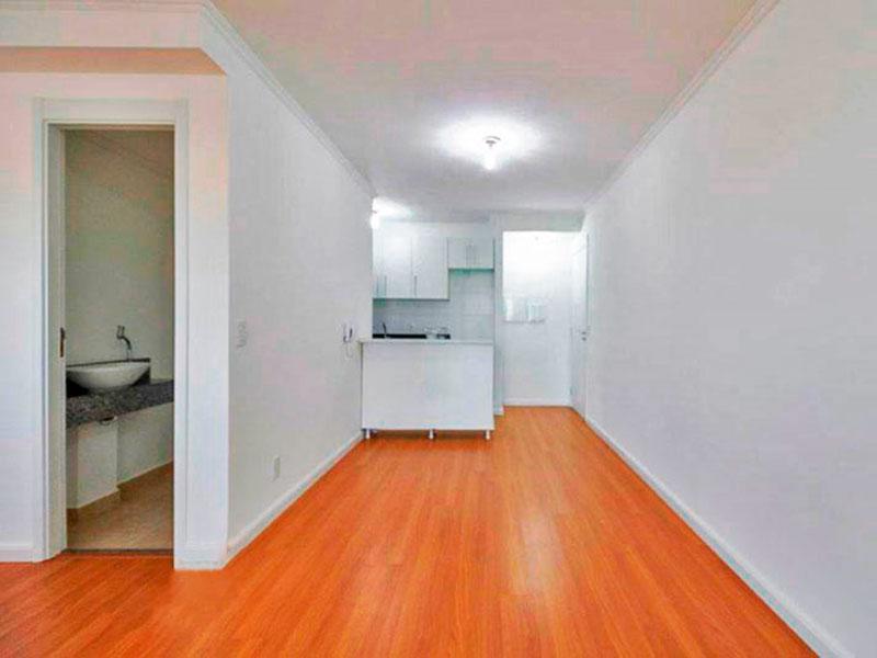 Ipiranga, Apartamento Padrão-Sala ampliada (com o 3º quarto), com piso de laminado, teto com moldura de gesso e acesso a varanda gourmet.