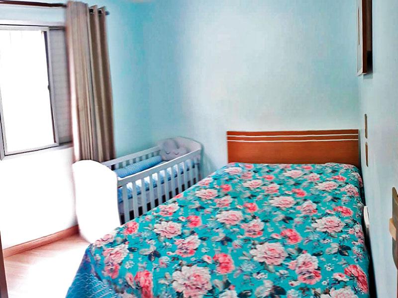 Sacomã, Apartamento Padrão-1º Quarto com piso de laminado.