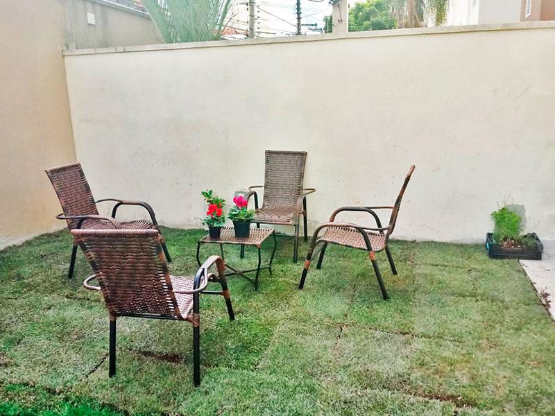 Jabaquara, Apartamento Garden-Varanda com grama sintética.