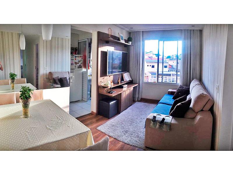 Sacomã, Apartamento Padrão - Sala com piso de laminado, teto com sanca de gesso e iluminação embutida.