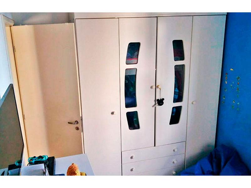 Sacomã, Apartamento Padrão-2º Quarto com piso de cerâmica e armários planejados.