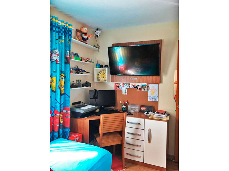 Jabaquara, Apartamento Padrão-2º Quarto com piso de laminado.