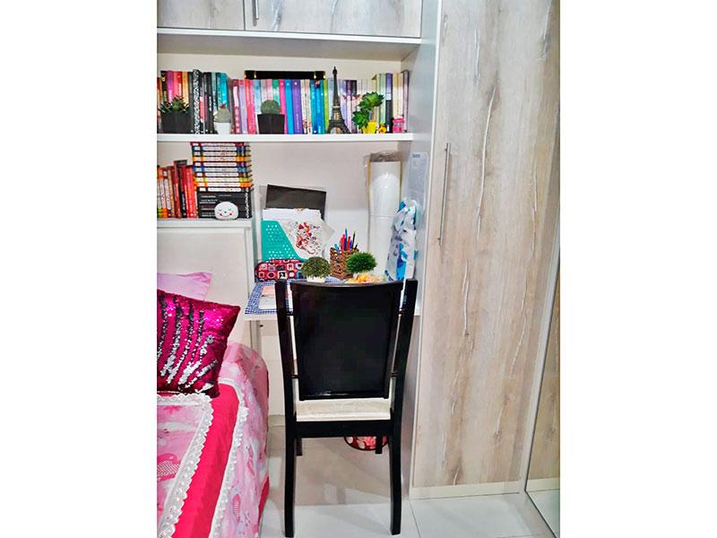 Jabaquara, Apartamento Padrão-2º Quarto com piso de cerâmica e armários planejados.